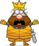 Scared Cartoon King Stock Photography