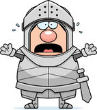 Scared Cartoon Knight Stock Photography