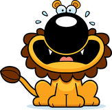 Scared Cartoon Lion Royalty Free Stock Image