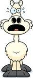 Scared Cartoon Llama Stock Image