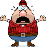 Scared Cartoon Lumberjack Stock Photography