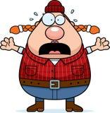 Scared Cartoon Lumberjack Stock Photo