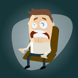 Scared cartoon man. Illustration of a scared cartoon man stock illustration