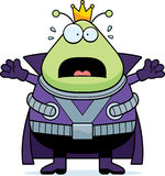 Scared Cartoon Martian King Stock Photography