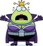 Scared Cartoon Martian Queen Royalty Free Stock Photography