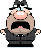 Scared Cartoon Mobster. A cartoon illustration of a mobster looking scared Royalty Free Stock Images