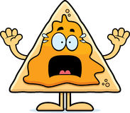 Scared Cartoon Nachos Royalty Free Stock Photography