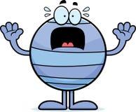 Scared Cartoon Neptune Royalty Free Stock Image