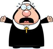 Scared Cartoon Nun Stock Photos