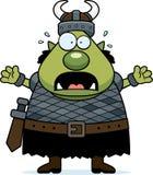 Scared Cartoon Orc royalty free illustration