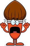 Scared Cartoon Paintbrush Stock Photos