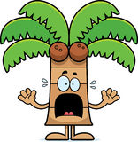 Scared Cartoon Palm Tree Royalty Free Stock Images