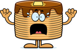 Scared Cartoon Pancakes Royalty Free Stock Images