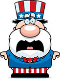 Scared Cartoon Patriot Stock Photography