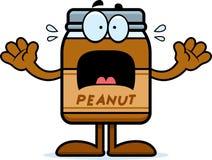 Scared Cartoon Peanut Butter Stock Photo