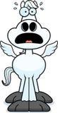 Scared Cartoon Pegasus Royalty Free Stock Photo