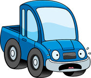 Scared Cartoon Pickup Truck Royalty Free Stock Image