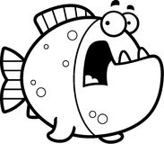 Scared Cartoon Piranha Royalty Free Stock Image