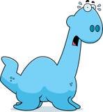 Scared Cartoon Plesiosaur Stock Images