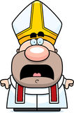 Scared Cartoon Pope Royalty Free Stock Images