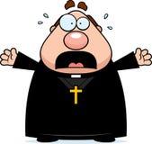 Scared Cartoon Priest Stock Photography