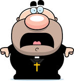 Scared Cartoon Priest Royalty Free Stock Photography