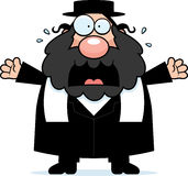 Scared Cartoon Rabbi Stock Images