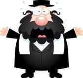 Scared Cartoon Rabbi Stock Images