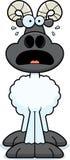Scared Cartoon Ram Stock Image