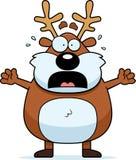 Scared Cartoon Reindeer Stock Image
