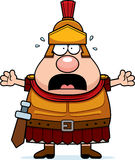 Scared Cartoon Roman Centurion Royalty Free Stock Photo