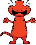 Scared Cartoon Salamander Stock Photo