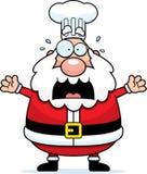 Scared Cartoon Santa Claus Chef Royalty Free Stock Photography
