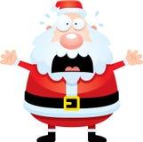 Scared Cartoon Santa Claus Royalty Free Stock Photos