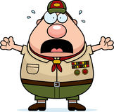 Scared Cartoon Scoutmaster Stock Photography