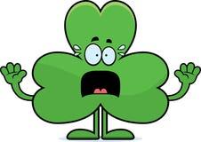 Scared Cartoon Shamrock Stock Image