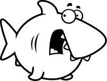 Scared Cartoon Shark Stock Images