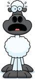 Scared Cartoon Sheep royalty free illustration