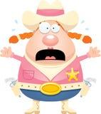 Scared Cartoon Sheriff Royalty Free Stock Photos