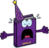 Scared Cartoon Spell Book royalty free illustration
