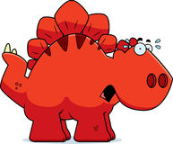 Scared Cartoon Stegosaurus Royalty Free Stock Image