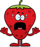 Scared Cartoon Strawberry Royalty Free Stock Photos