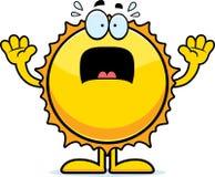 Scared Cartoon Sun Stock Photography