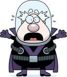 Scared Cartoon Supervillain Royalty Free Stock Image