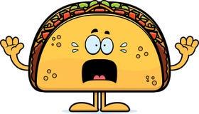 Scared Cartoon Taco Stock Photography