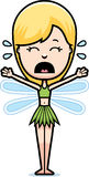 Scared Cartoon Teen Fairy Stock Photo