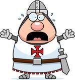 Scared Cartoon Templar vector illustration