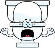 Scared Cartoon Toilet Stock Images