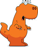 Scared Cartoon Tyrannosaurus Rex Royalty Free Stock Photos