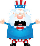 Scared Cartoon Uncle Sam Royalty Free Stock Photography